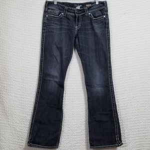 Silver Jeans Charcoal Slim Bootcut Jeans 33